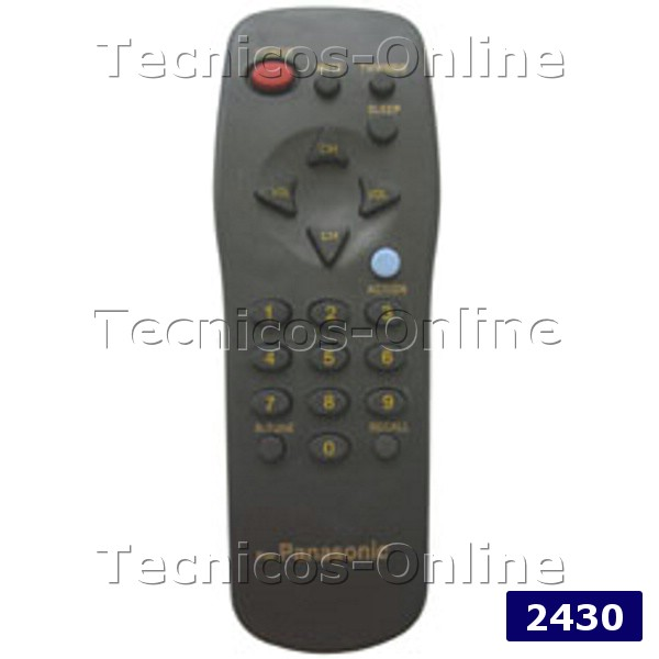 2430 Control Remoto TV PANASONIC