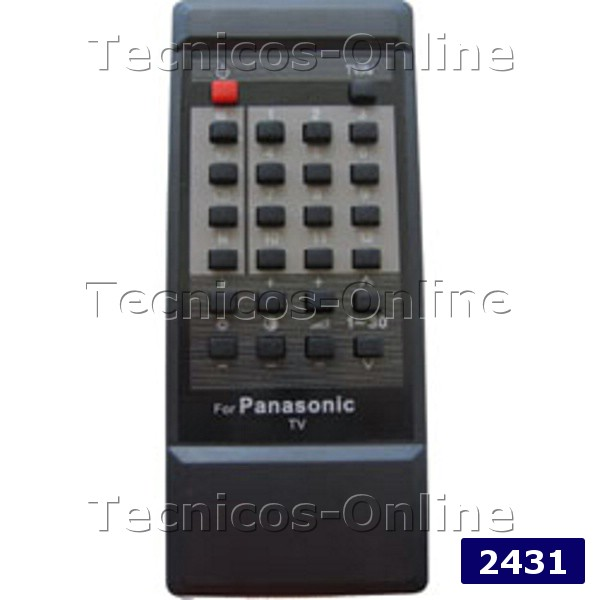 2431 Control Remoto TV MITSUBISHI NATIONAL PANASONIC