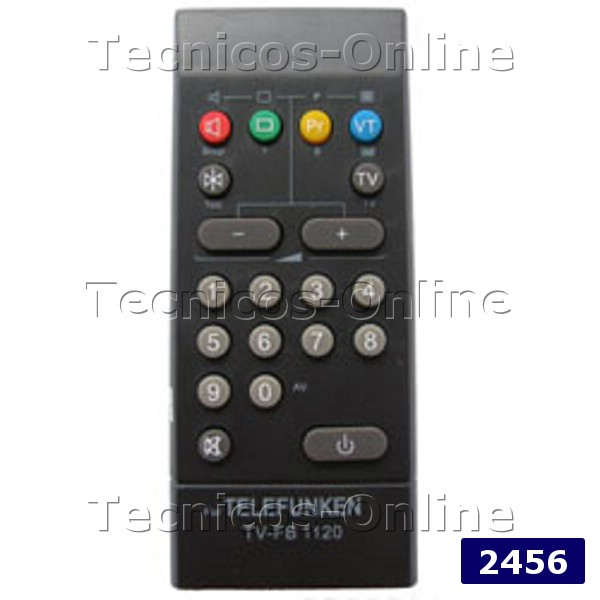 2456 Control Remoto TV FB1120 TELEFUNKEN TALENT