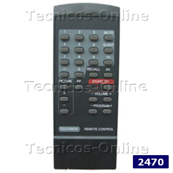 2470 Control Remoto TV CM2001 CROWN MUSTANG DEWO FIRST LINE
