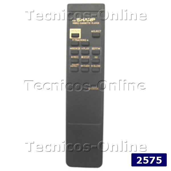 2575 Control Remoto  VCR SHARP DE VIDEO