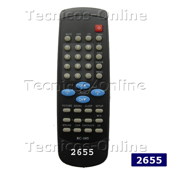 2655 Control Remoto TV RC105 CROWN MUSTANG PHILIPS TALENT