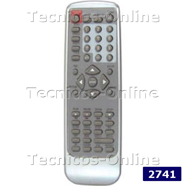2741 Control Remoto DVD XVIEW COBY DATSUN EURO VIEW GLOBAL HOME