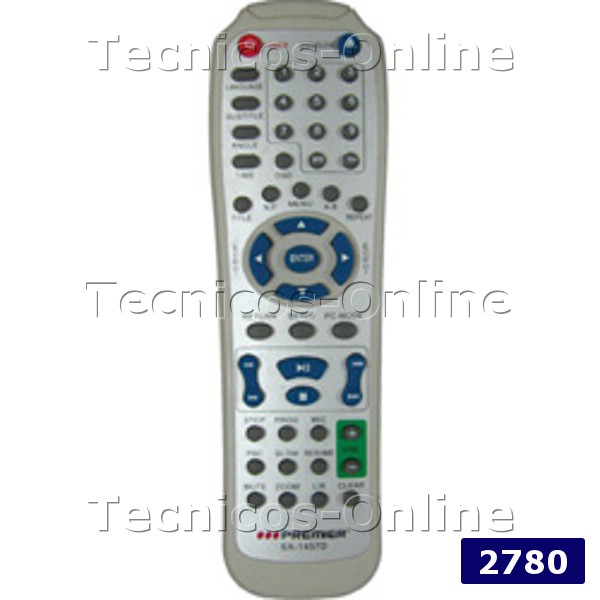 2780 Control Remoto DVD COBY DATSUN MELODY PREMIER SOLTECH