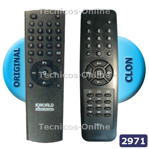 2971 Control Remoto PLACA KWORLD VS-1440