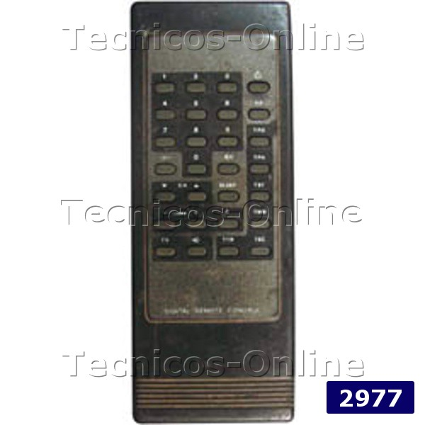 2977 Control Remoto TV CROWN MUSTANG RECOR DAENYX