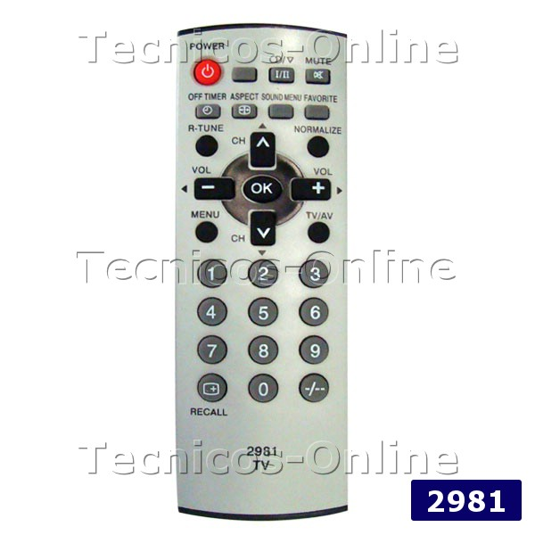 2981 Control Remoto TV PANASONIC