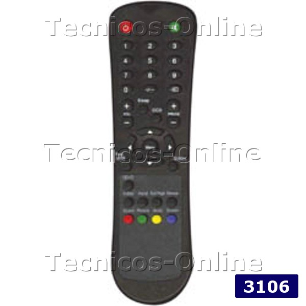 3106 Control Remoto TV LCD HI-TECH