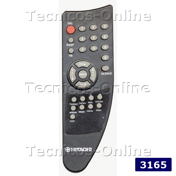 3165 Control Remoto TV HITACHI