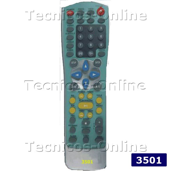 3501 Control Remoto DVD NATIONAL