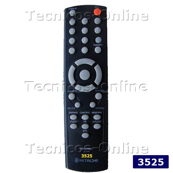 3525 CONTROL REMOTO TV HITACHI RCA