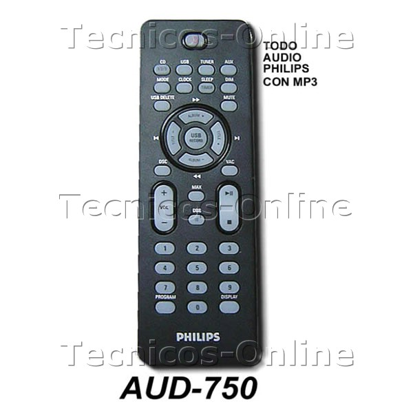 AUD-750 Control Remoto Audio PHILIPS