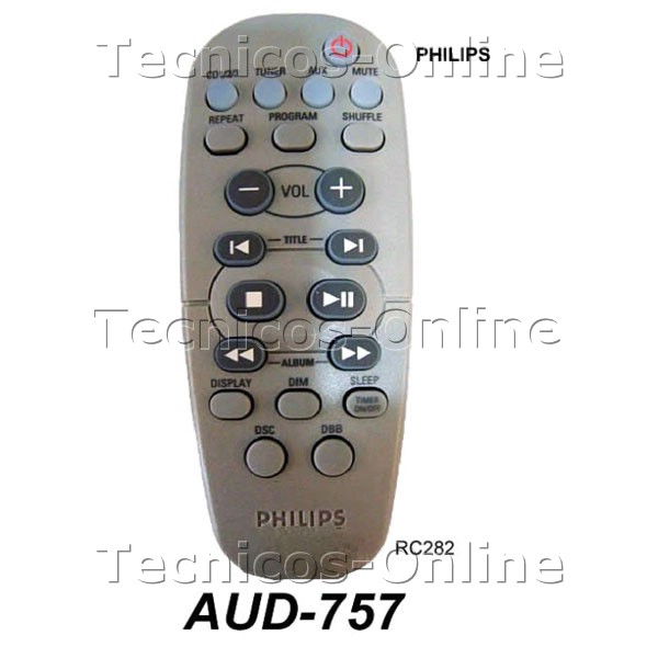 AUD-757 Control Remoto RC282 PHILIPS Audio