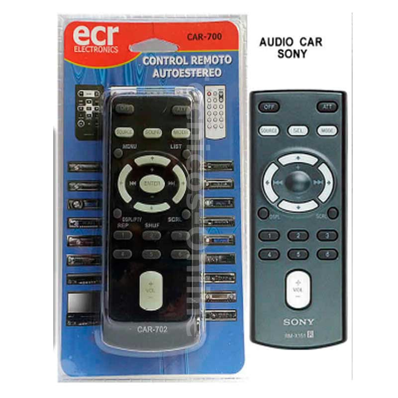 CAR-702 CONTROL REMOTO CAR AUDIO  SONY