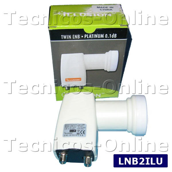 LNB DOBLE TWIN  ILUSION 0.1dB Ruido