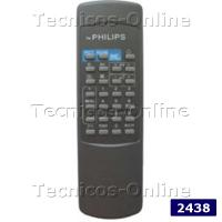 2438 Control Remoto TV  RC0301 PHILIPS WESTINGHOUSE