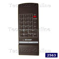 2563 Control Remoto TV SHARP