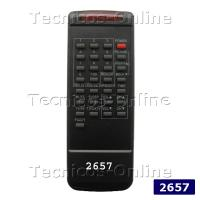 2657 Control remoto TV RM7A ADMIRAL CROWN MUSTANG AUDINAC NOBLEX