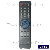 2752 Control Remoto TV ALFIDE CROWN MUSTANG PHILCO TALENT
