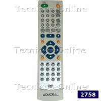 2758 Control Remoto DVD ADMIRAL GLOBAL HOME NOBLEX SANYO