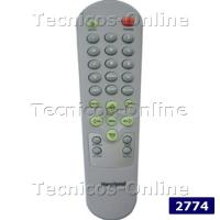 2774 Control Remoto TV HOWLAND JVC KEN BROWN