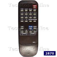 2870 Control Remoto TV ITT NOKIA DREAN TALENT WESTINGHOUSE