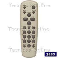 2883 Control Remoto TV GE GENERAL ELECTRIC RCA