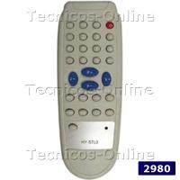 2980 Control Remoto TV MIRACLE SANYO TALENT MAKROSONIC