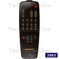 2983 Control Remoto TV RE2215C AUDINAC TALENT SANSEI