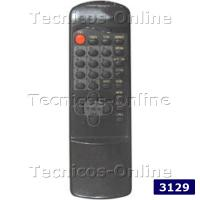 3129 Control Remoto TV CROWN MUSTANG