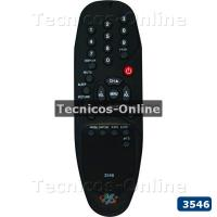 3546 Control Remoto TV RD3400 AUDINAC CON MTS STD ADMIRAL