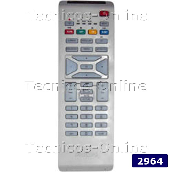 2964 Control Remoto Lcd Philips