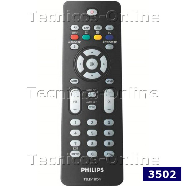 3502 Control Remoto TV LCD Philips