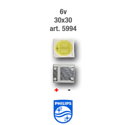LED PARA TIRA RETRO 6v 3x3mm PHILIPS 5994